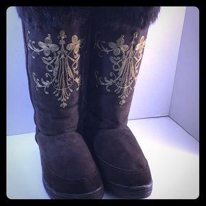 J.Crew Brown Suede Size 8 Knee Boots
